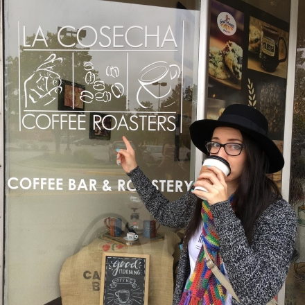 It's #nationalcoffeeday. $1 brews and $2 lattes at @lacosechacoffee! Get a taste of what we'll serve when we open.